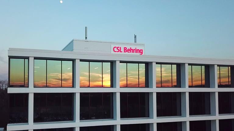 CSL Behring's new location at 500 N. Gulph Rd. in King of Prussia, Pennsylvania