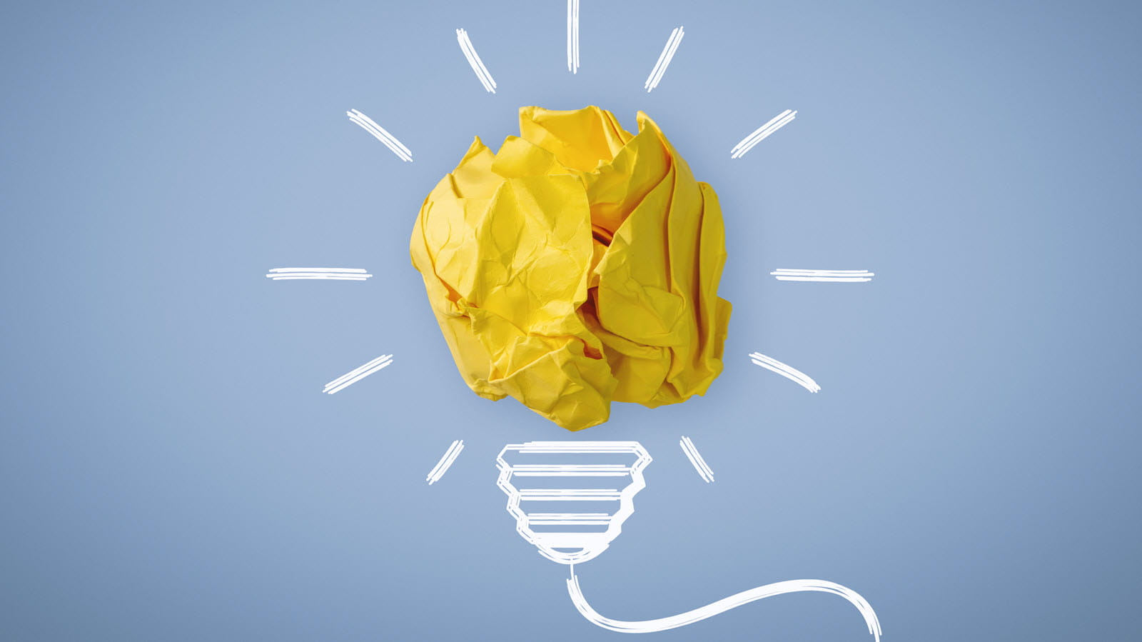 Yellow idea light bulb