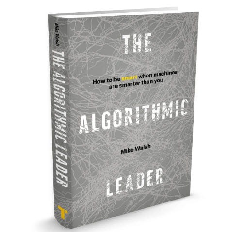 book cover for The Algorithmic Leader