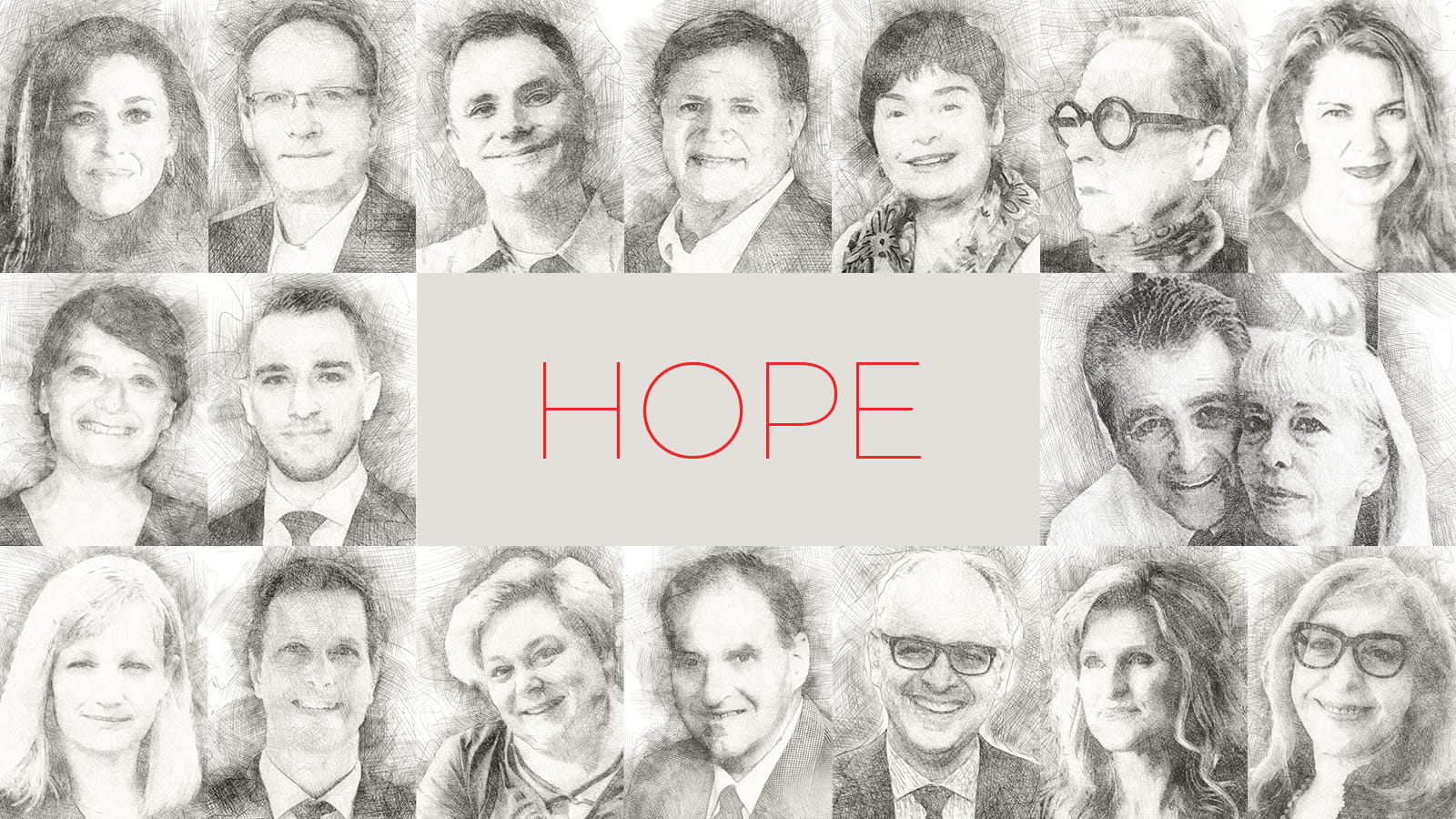 Collage of 17 participants in our year-end survey about HOPE