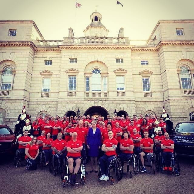 Invictus Games Team UK with British Prime Minister Theresa May