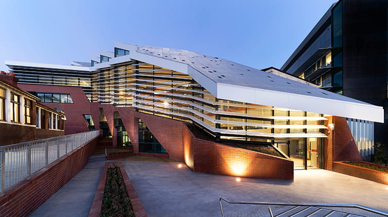 The Nancy Mills Building at the University of Melbourne, Australia's newly-expanded Bio21 Molecular Science and Biotechnology Institute houses the CSL Global Research and Translational Medicine Hub.