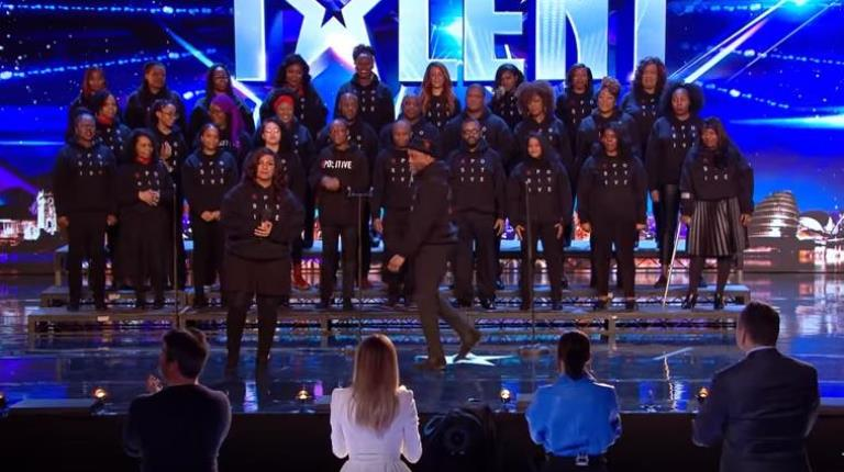 B Positive Choir appearing on Britain's Got Talent
