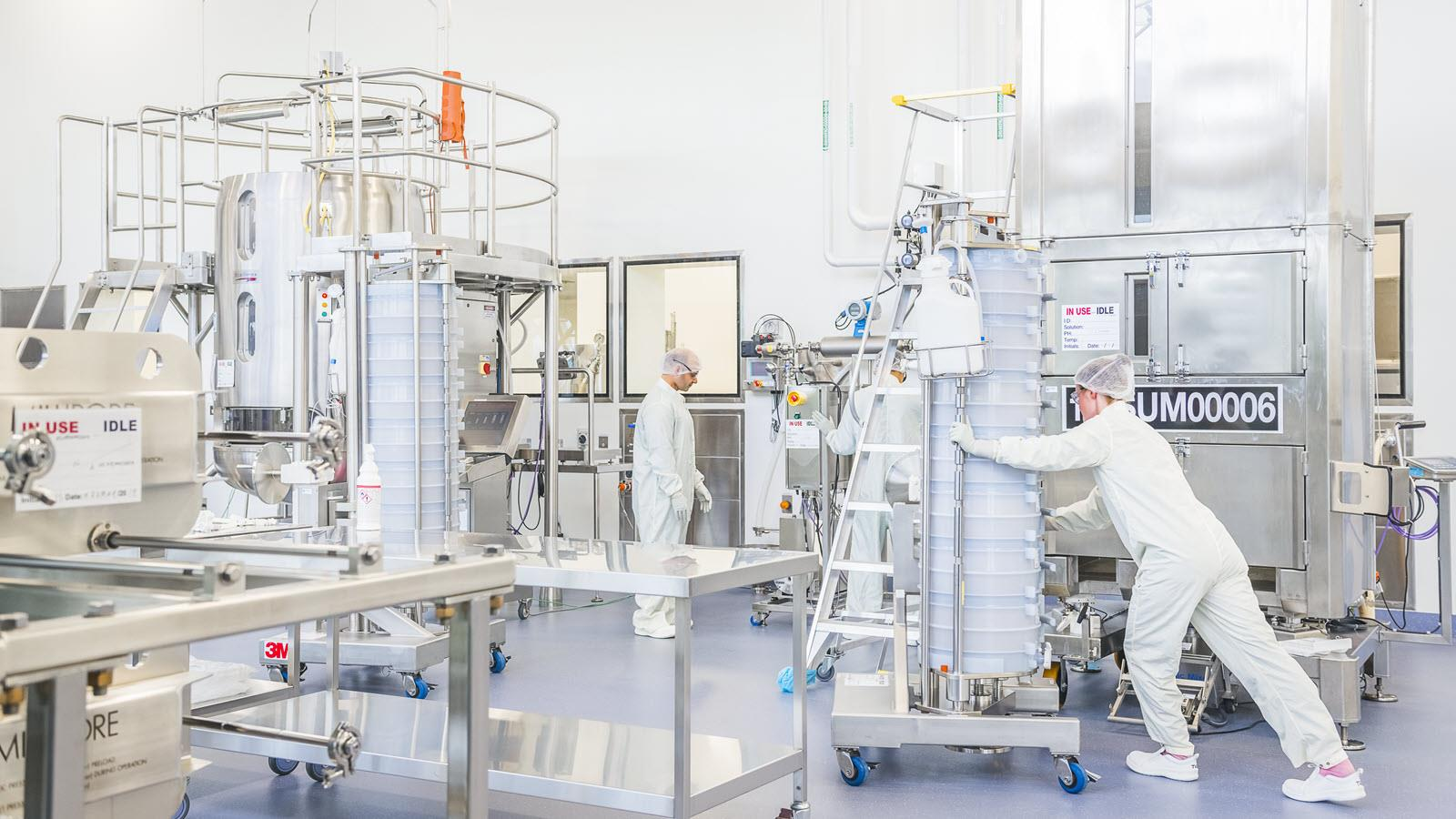 CSL Behring employees in Australia begin production of a COVID-19 vaccine candidate.