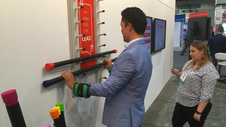 Attendees at the 2018 American Academy of Neurology Annual Meeting in Los Angeles participated in a demonstration of what it's like to deal with common Chronic Inflammatory Demyelinating Polyneuropathy symptoms.