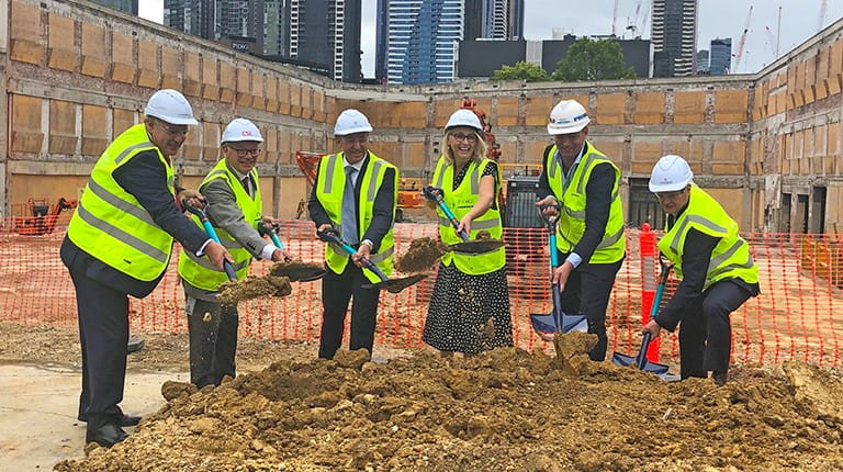 Sod turned at new CSL HQ in Australia