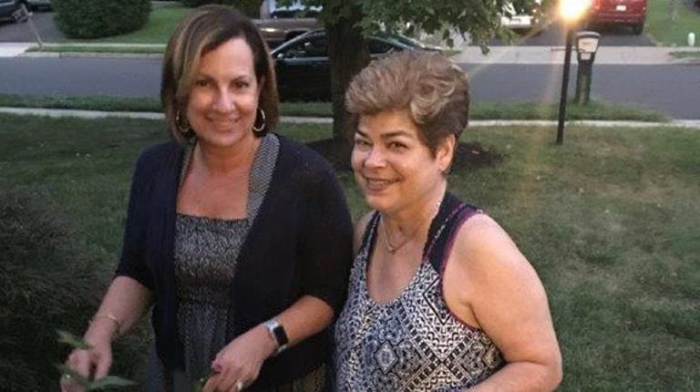 Diane McCabe and her sister-in-law, Maureen, who has received two double-lung transplants.
