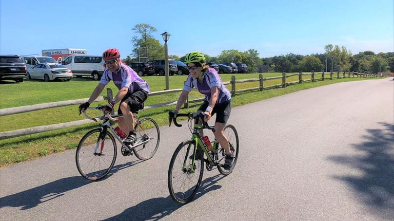 CSL Behring employees cycle to raise awareness of Alpha-1 Antitrypsin Deficiency.