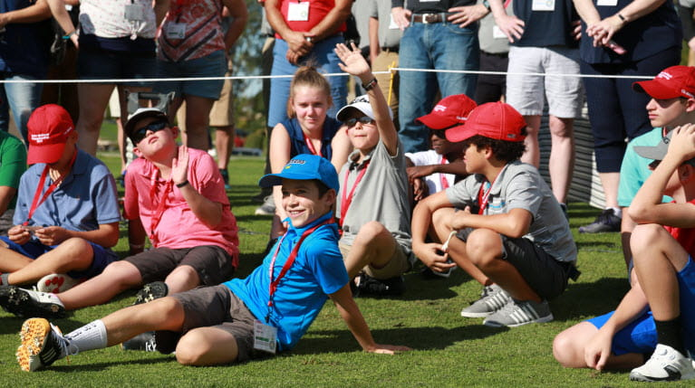 young golfers on the green at the JNC