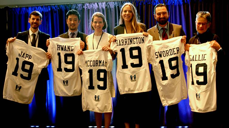 Grant recipients at the 2019 Uplifting Athletes Young Investigator Draft presented by CSL Behring