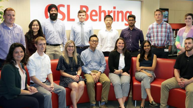CSL Behring 2019 Intern Group in King of Prussia
