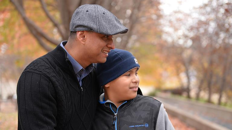 Hector Grisalez and his son, rare disease patient, Jonathan Grisalez