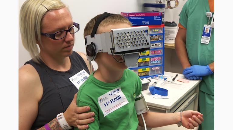 Nationwide Children's Hospital in Columbus, Ohio, has created a virtual reality game to help ease anxiety during intravenous infusions