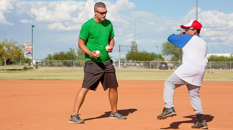 Jesse Schrader, baseball pitcher with hemophilia at CSL Behring's Gettin' in the Game Junior National Championship