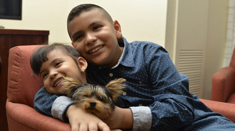 Hemophilia A patient Jonathan Grisalez and his sister