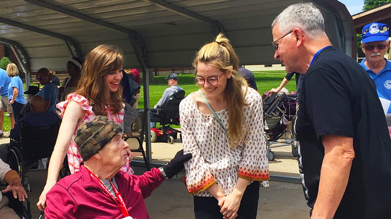 CSL Behring Kankakee interns interacting with veterans