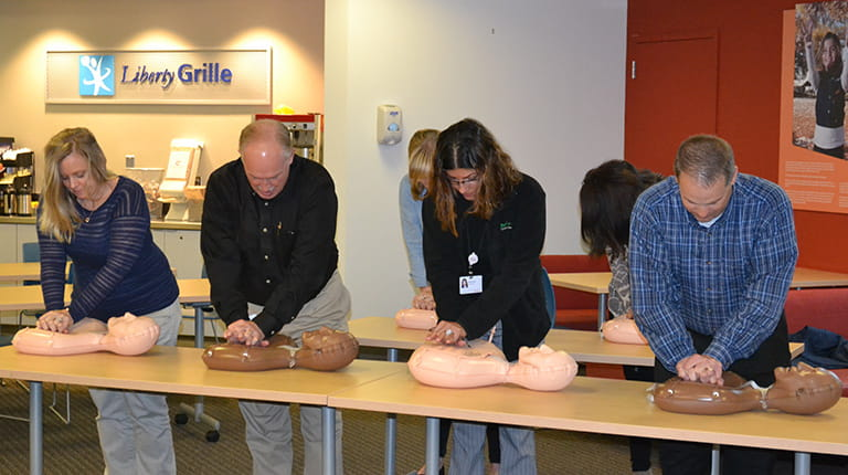 CPR training at CSL Behring