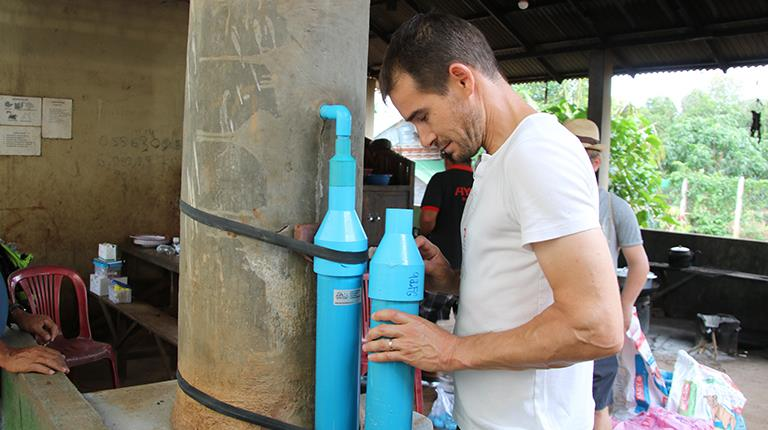 Lukas Graf, a laboratory assistant at CSL Behring in Bern, Switzerland, has traveled to Cambodia, Myanmar and Kenya to install water filters that provide clean drinking water to impoverished communities.
