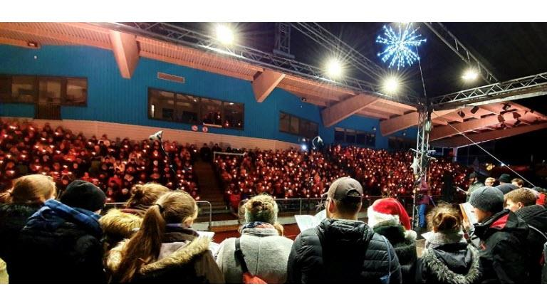 Annual holiday sing-along event in Marburg, Germany