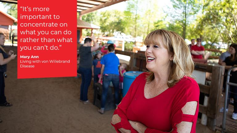Message of Hope from rare disease patient Mary Ann who is living with von willebrand disease