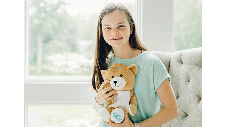 Medi Teddy founder Ella Casano, who is living with a rare disease