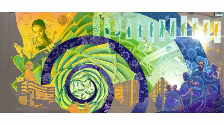 "CSL Behring ""Promise of Biotechnology"" mural"