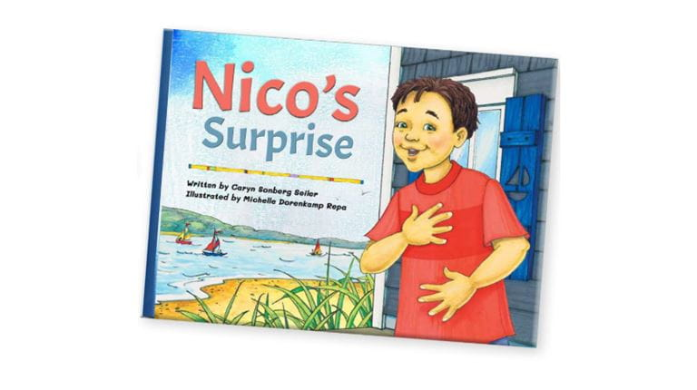 Illustrated cover of Nico's Suprise childrens book