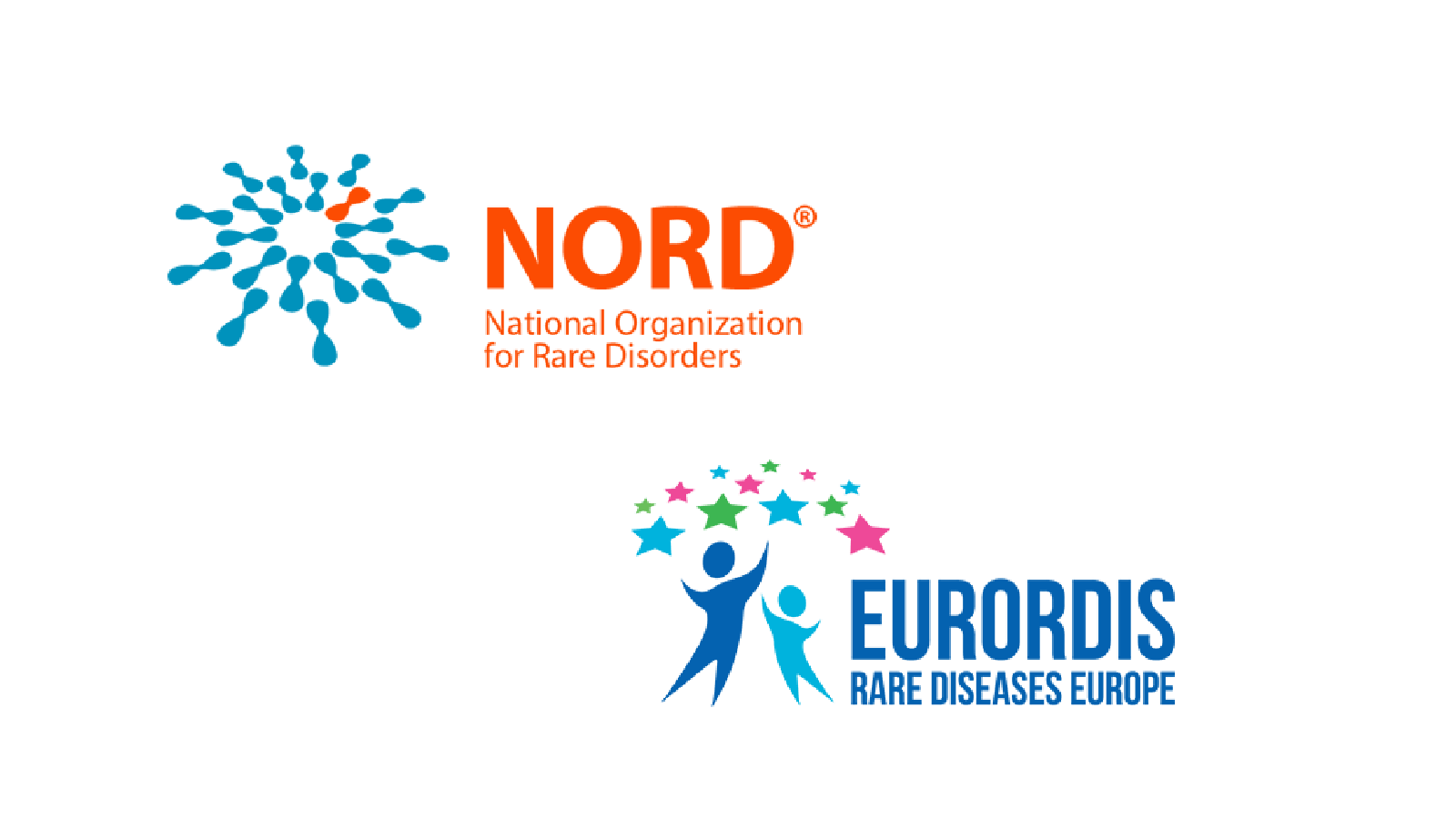 logos for the National Organization for Rare Disorders (NORD) and EURORDIS