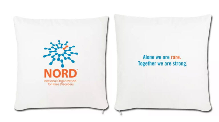 Front and back images of NORD pillows