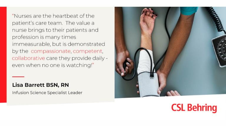 Nurses week graphic with quote