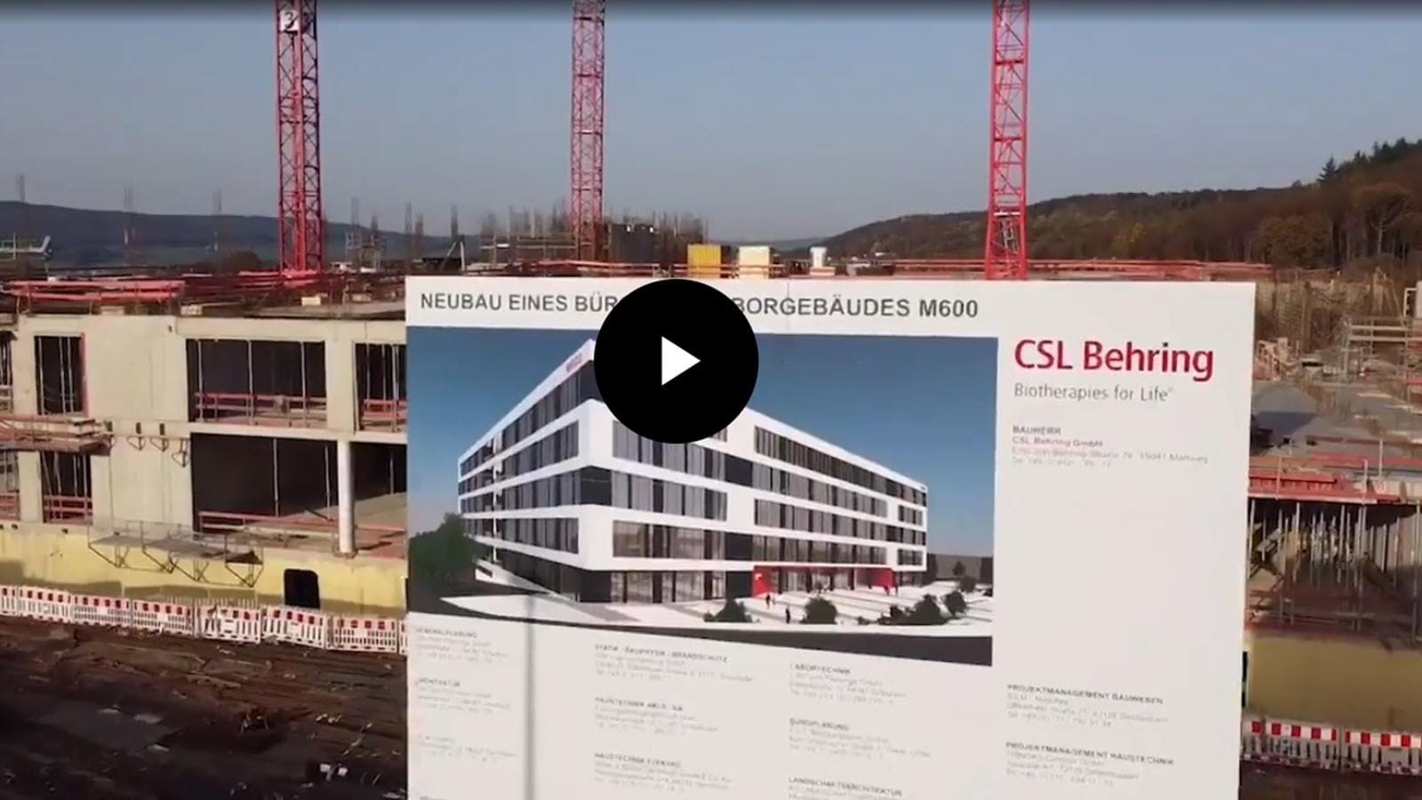 finished building illustration in front of ongoing Marburg R&D construction