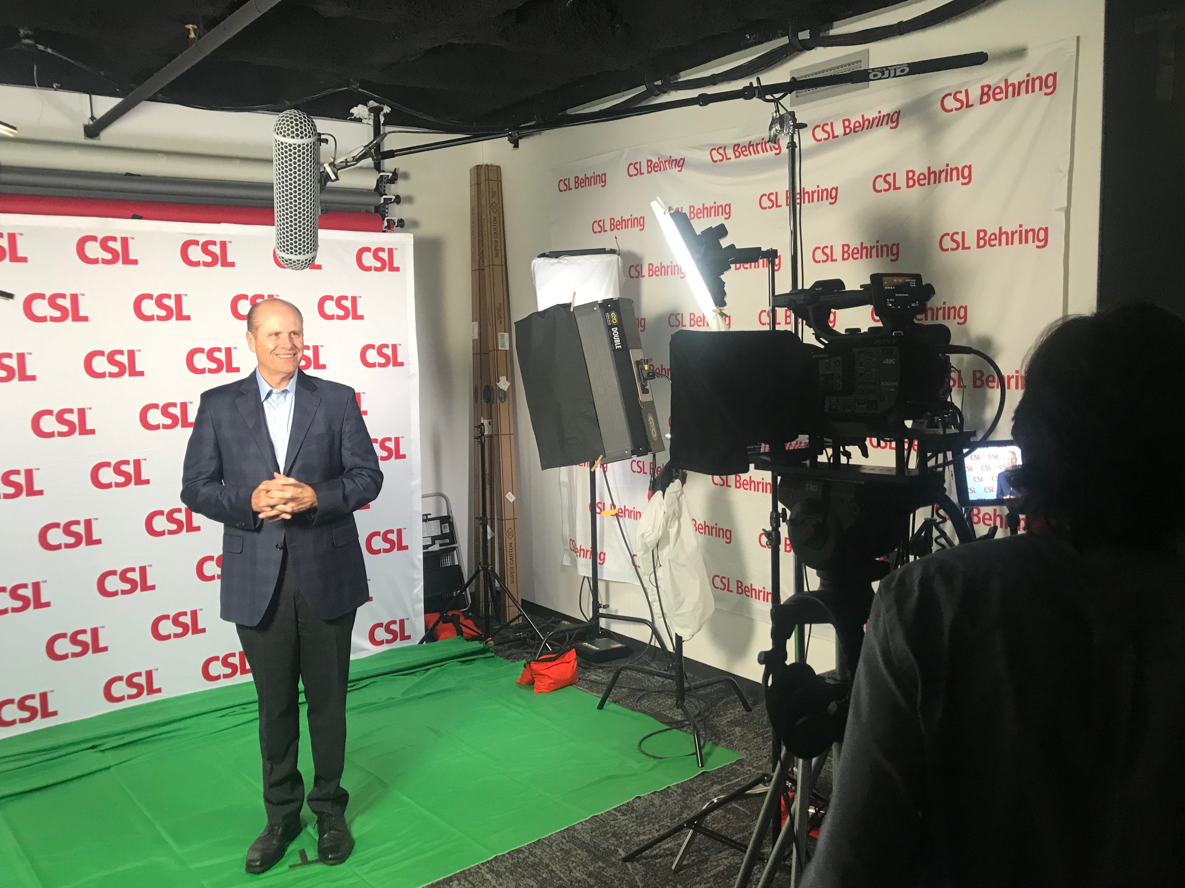 CSL CEO Paul Perreault in the company's King of Prussia, Pa. video studio