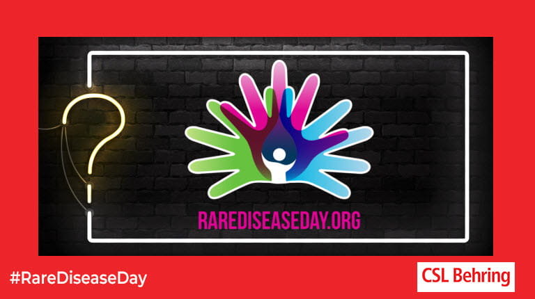 Rare Disease Day logo in quiz border