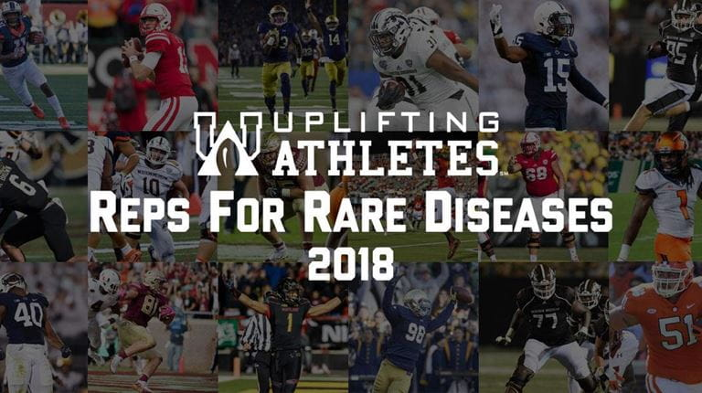 Mosaic of players involved with Reps For Rare Disease campaign