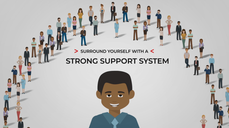 Sickle cell patient with support system