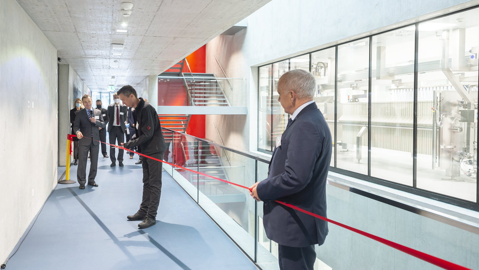 Officials in Bern, Switzerland, cut the ribbon on an expansion at CSL Behring's facility.