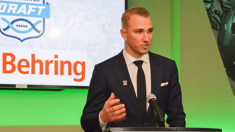 Rob Long speaking at Uplifting Athletes Young Investigator Draft - photo courtesy of Uplifting Athletes