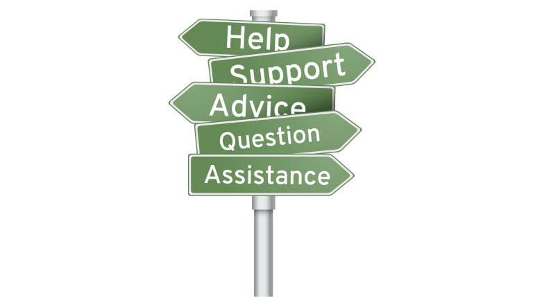 signpost for help support advice