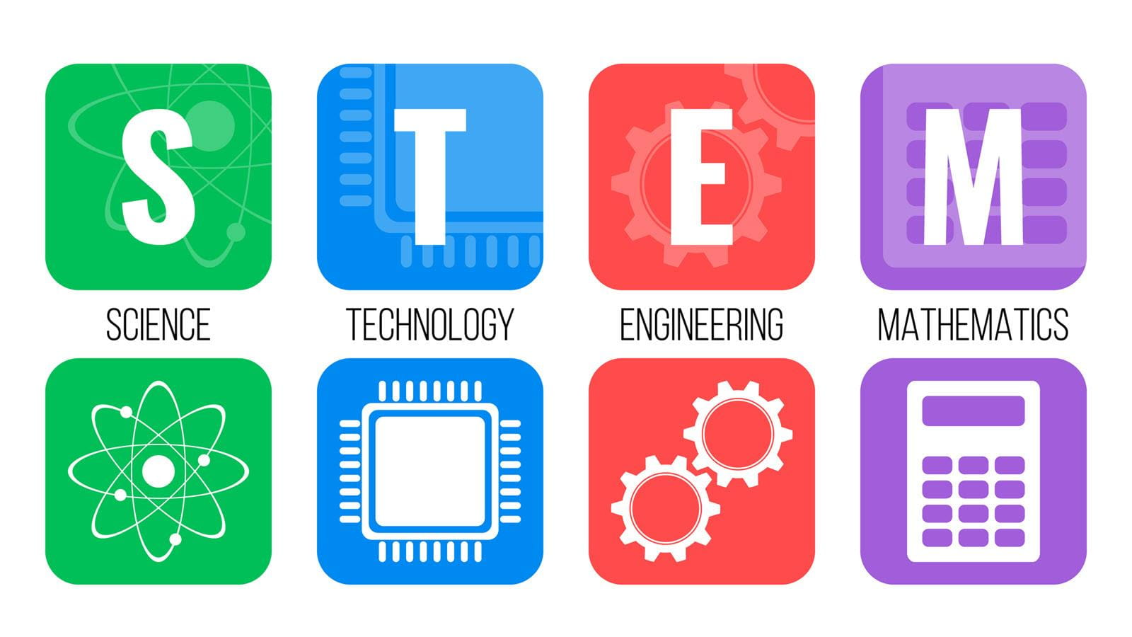 Illustration of science, technology, engineering and math