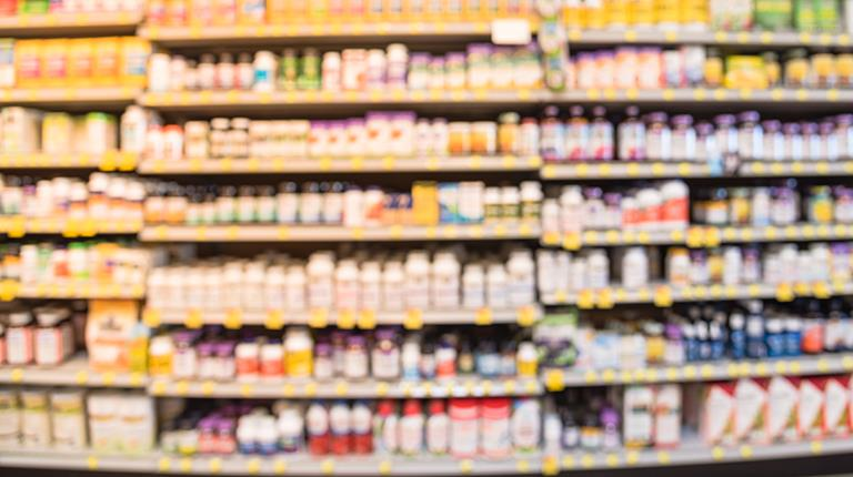 Supplements on store shelves.