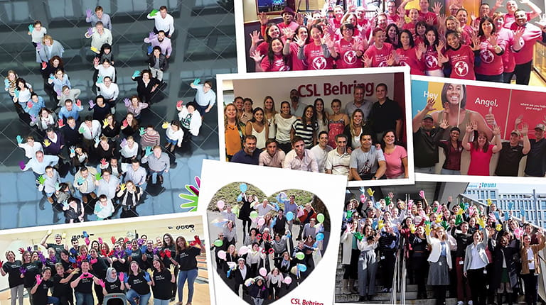 Images of CSL personnel around the world marking Rare Disease Day