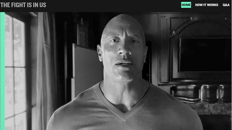 "Dwayne ""the Rock"" Johnson video screenshot"