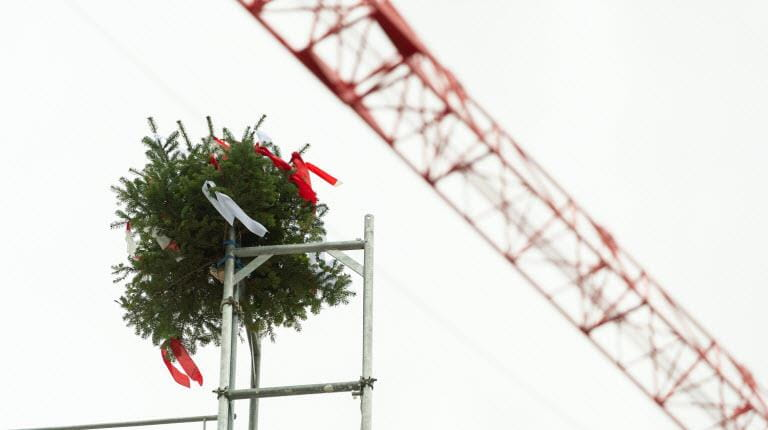 Topping out ceremony in Bern Switzerland