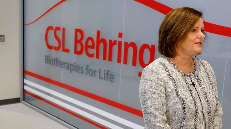 CSL Behring Senior Vice President Trisha Stewart, who is also General Manager of the company's leading-edge Kankakee, Illinois, manufacturing site