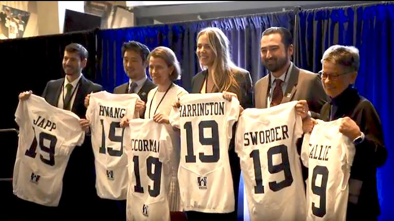 Grant recipients at Uplifting Athletes Young Investigator Draft presented by CSL Behring