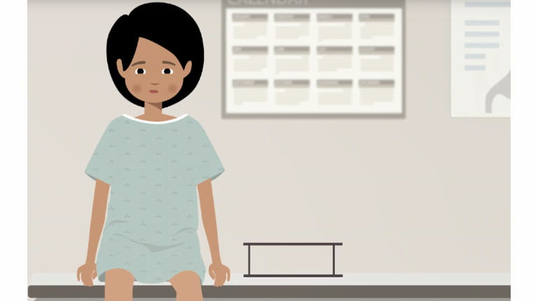 Still from CSL Behring animated video on advice for undiagnosed rare disease patients