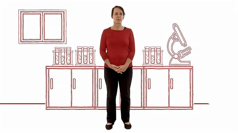 Screengrab from CSL's video highlighting women in STEM and biotechnology