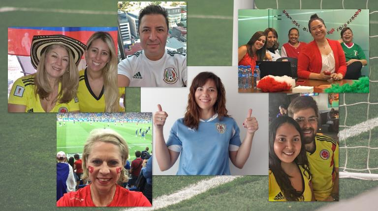 CSL employees showing off their World Cup fandom.