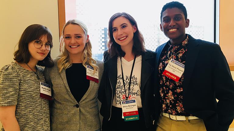 The annual Rare Disease Day event at the National Institutes of Health in Bethesda, Maryland brings together patients, researchers and physicians. This group above participated in a 2018 panel discussion about how young people approach advocacy work.