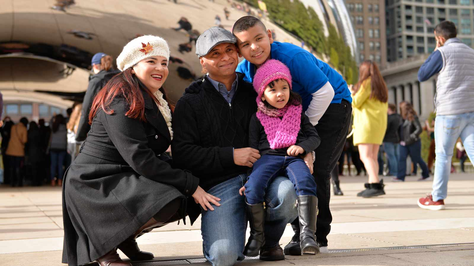 Hemophila A patient Jonathan Grisalez and family